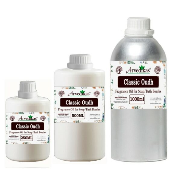 Classic Oudh Fragrance Oil For Soap / Bath Bombs-250Ml to 1000Ml