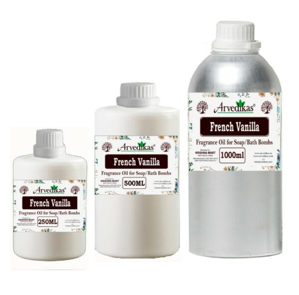 French Vanilla Fragrance Oil For Soap / Bath Bombs-250Ml to 1000Ml